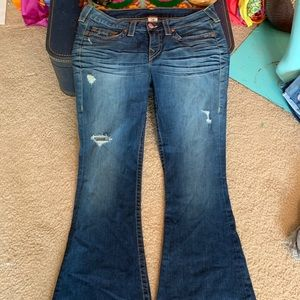 True Religion Jeans Size 32 NWOT bell flare